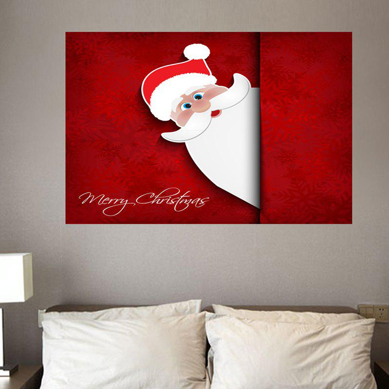 Environmental Removable Peeping Santa Claus Printed Wall Stickers family wall quote removable wall stickers home decal art mural