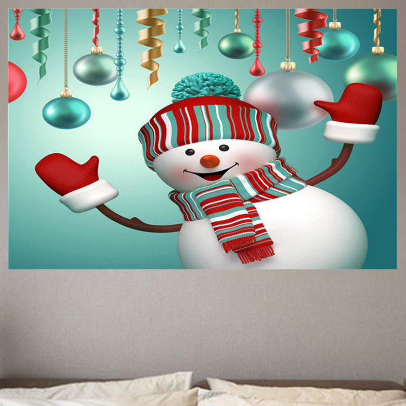 Smiling Christmas Snowman Patterned Wall Art Sticker keep smiling through