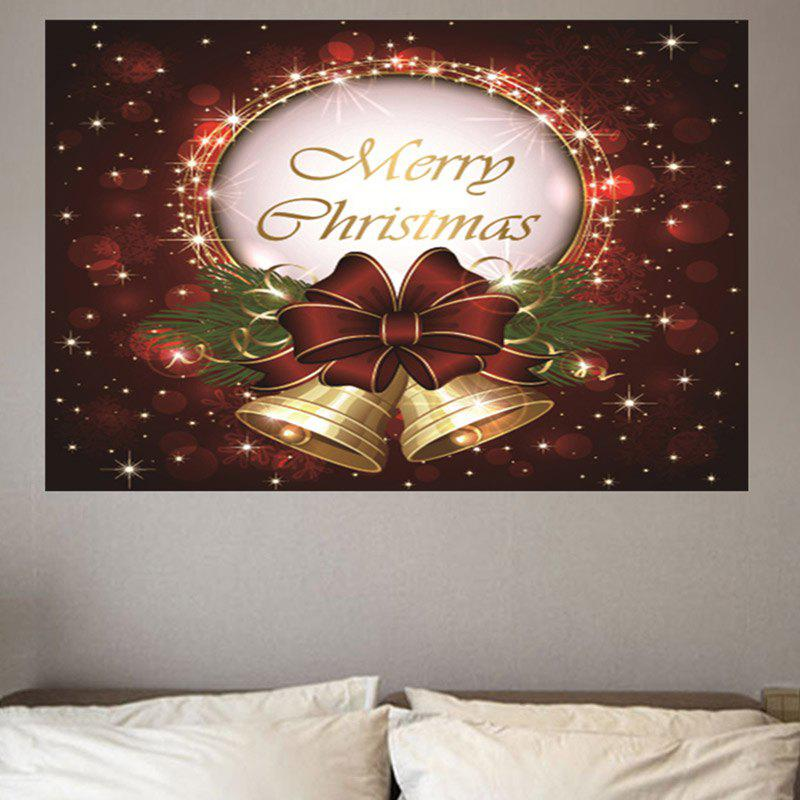 Merry Christmas Bell Patterned Wall Art Sticker inspirational letters words patterned wall art sticker