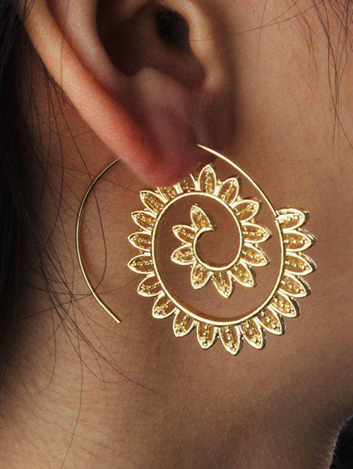 Statement Metal Gear Hoop Earrings
