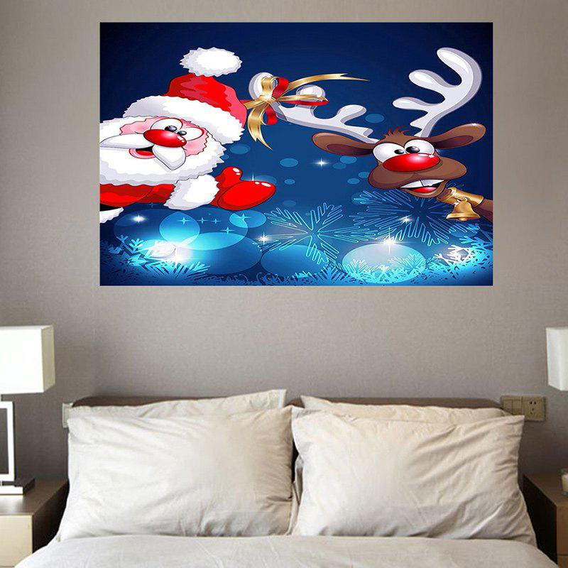 Environmental Removable Christmas Santa Claus with Elk Printed Wall Stickers stylish auto cable wire cord organizer smart wrap bobbin winder for earphone