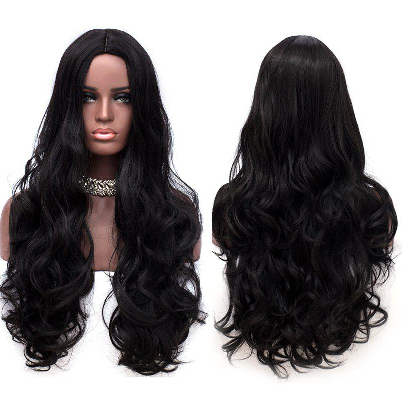 Long Middle Parting Synthetic Layered Wavy Wig long center parting layered wavy synthetic party wig