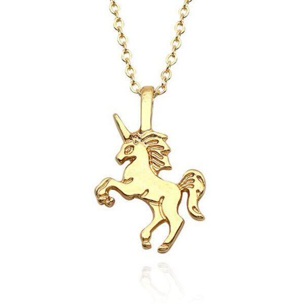 Cute Unicorn Pendant Chain Necklace cute beads cherry shape pendant necklace for women