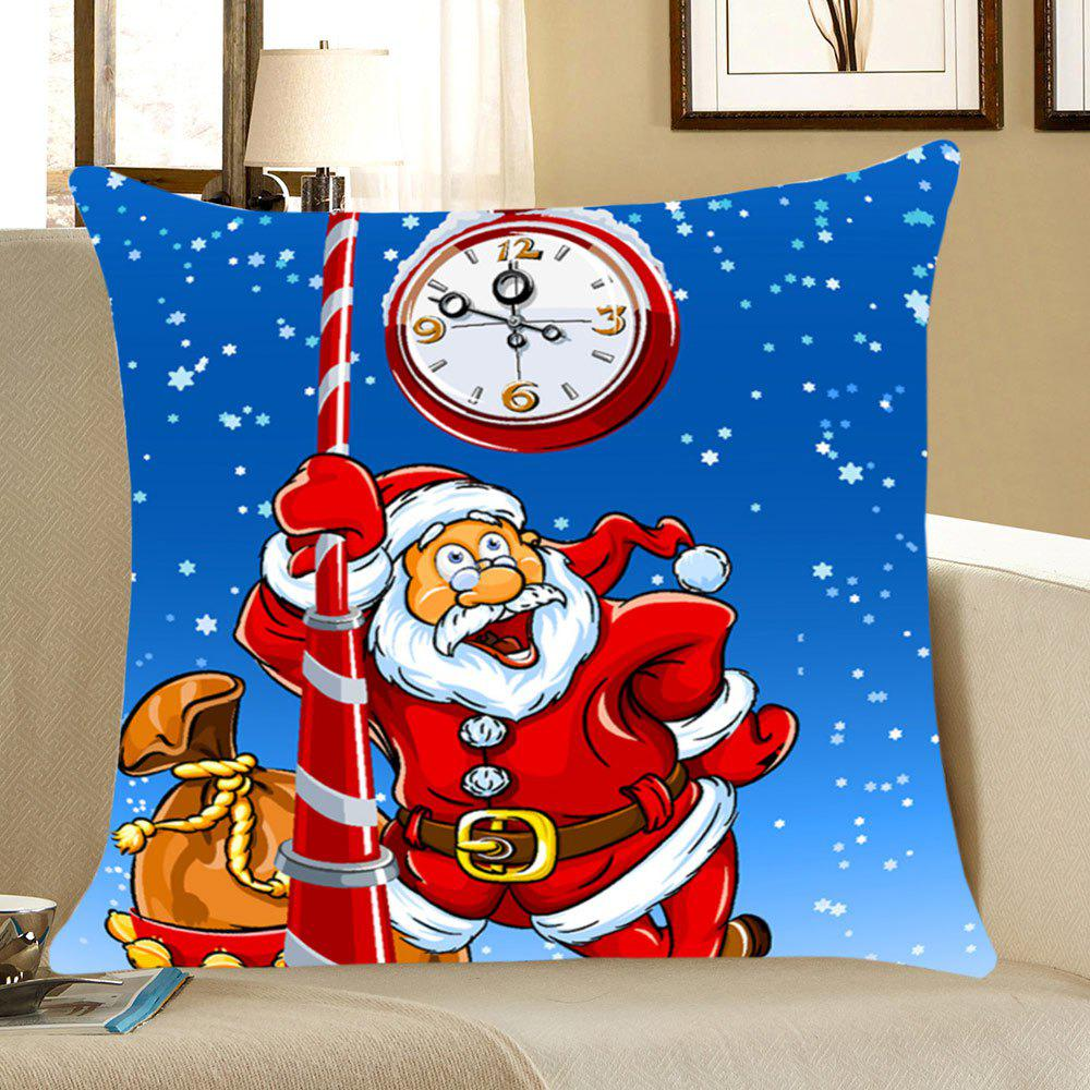 Santa Claus Pattern Home Decor Throw Pillow Case - BLUE/RED W12 INCH * L20 INCH