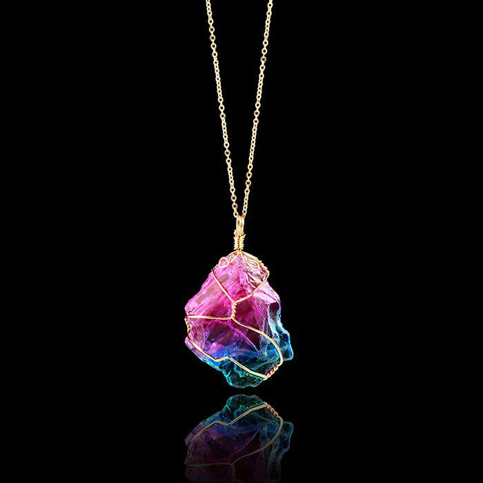 1PC Random Shape Irregular Paint Splatter Stone Necklace аксессуары для косплея random beauty cosplay