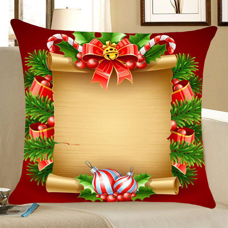 Christmas Scroll Decorations Printed Throw Pillow Case holiday christmas cap printed pillow case