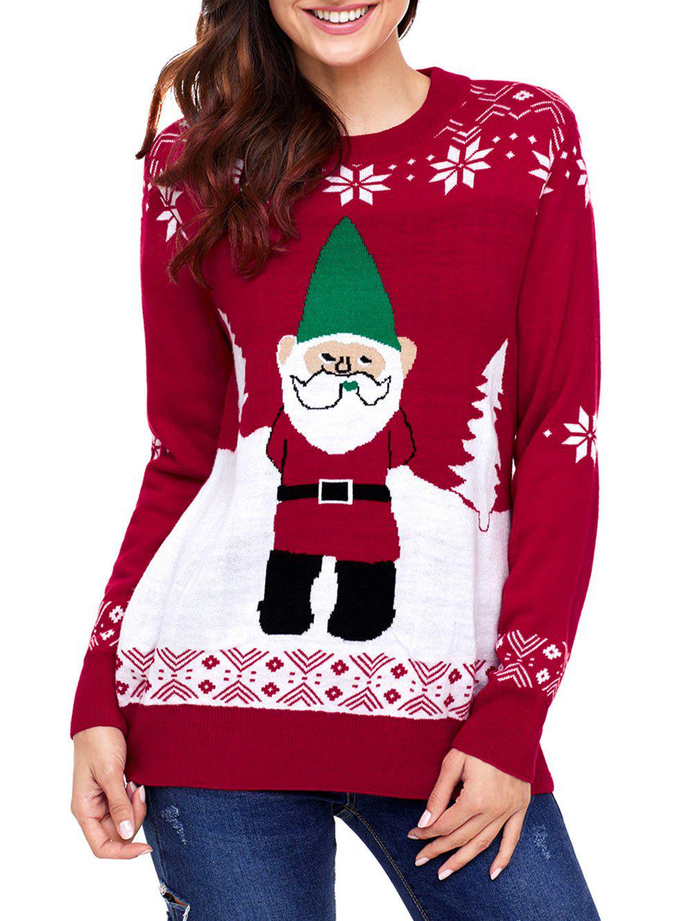 Christmas Snowflake and Santa Claus Jacquard Sweater inflatable cartoon customized advertising giant christmas inflatable santa claus for christmas outdoor decoration