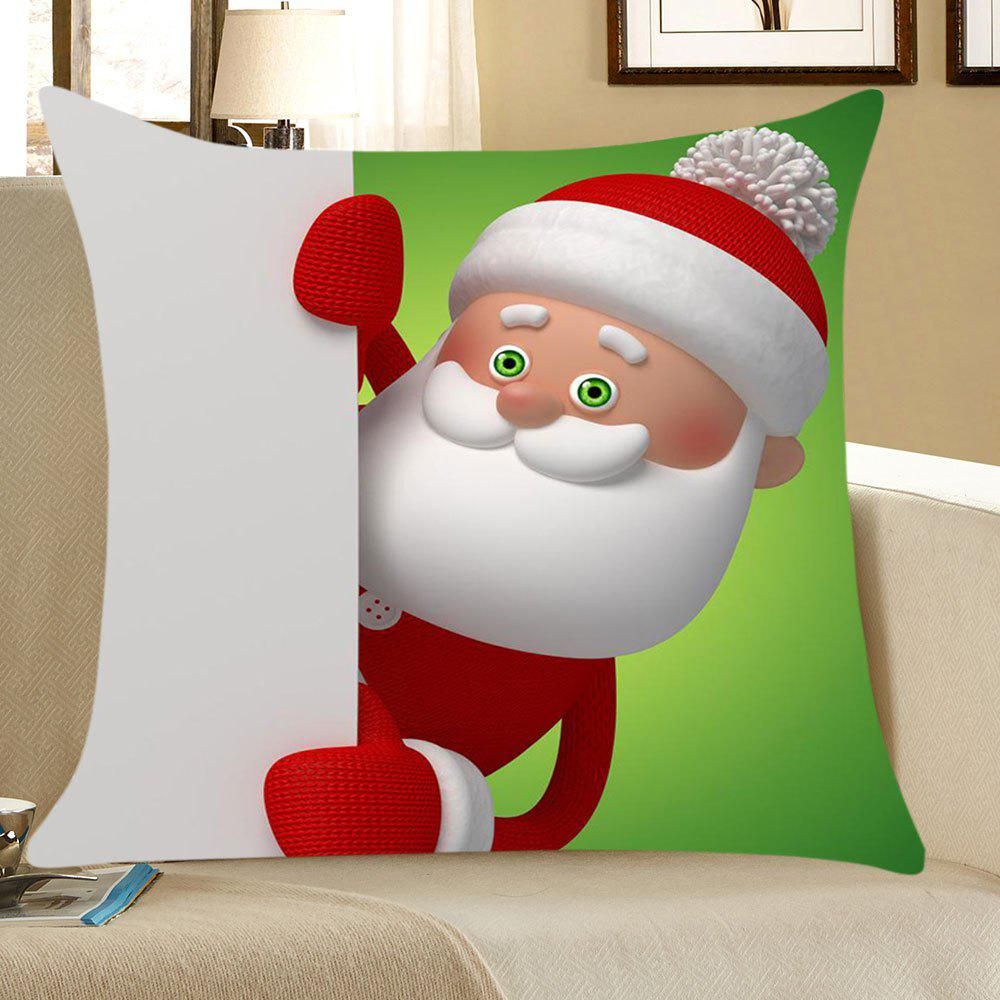 Santa Claus Printed Linen Throw Pillow Case santa claus deer cushion throw pillow case