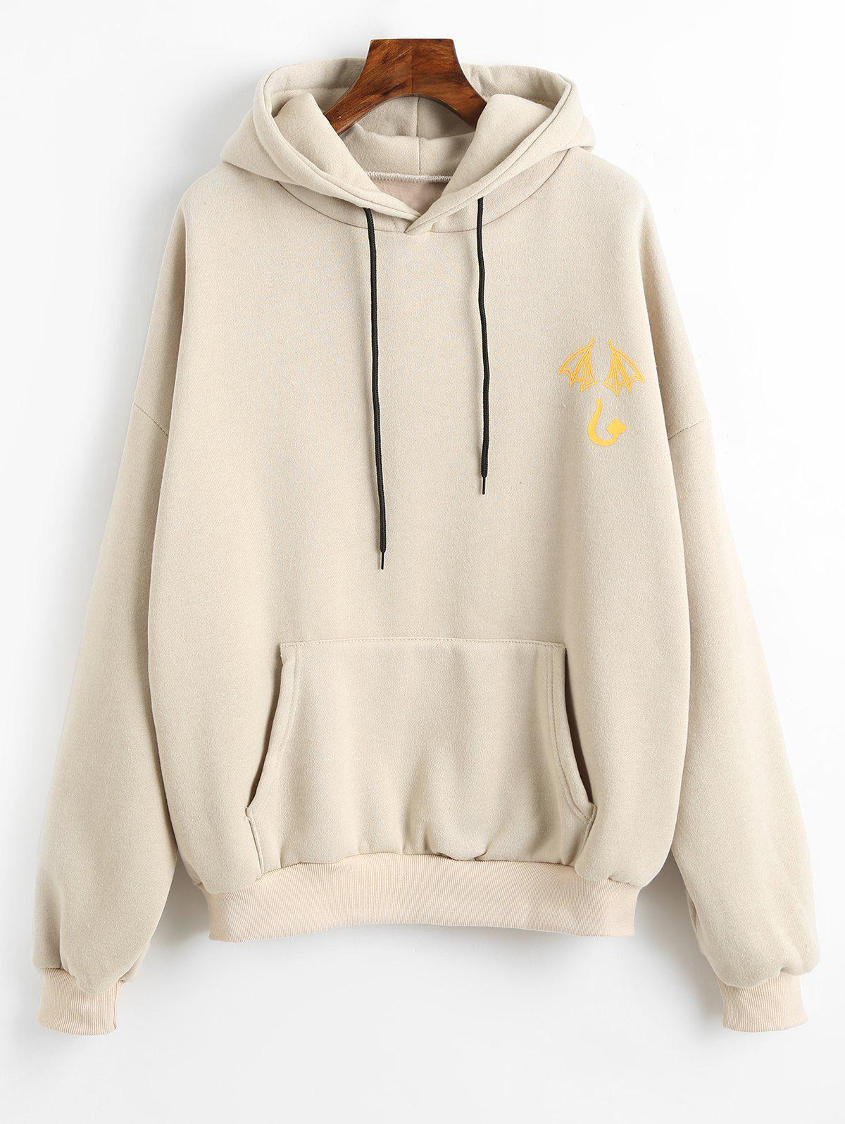 Graphic Pattern Front Pocket Hoodie geometric pattern front pocket hoodie