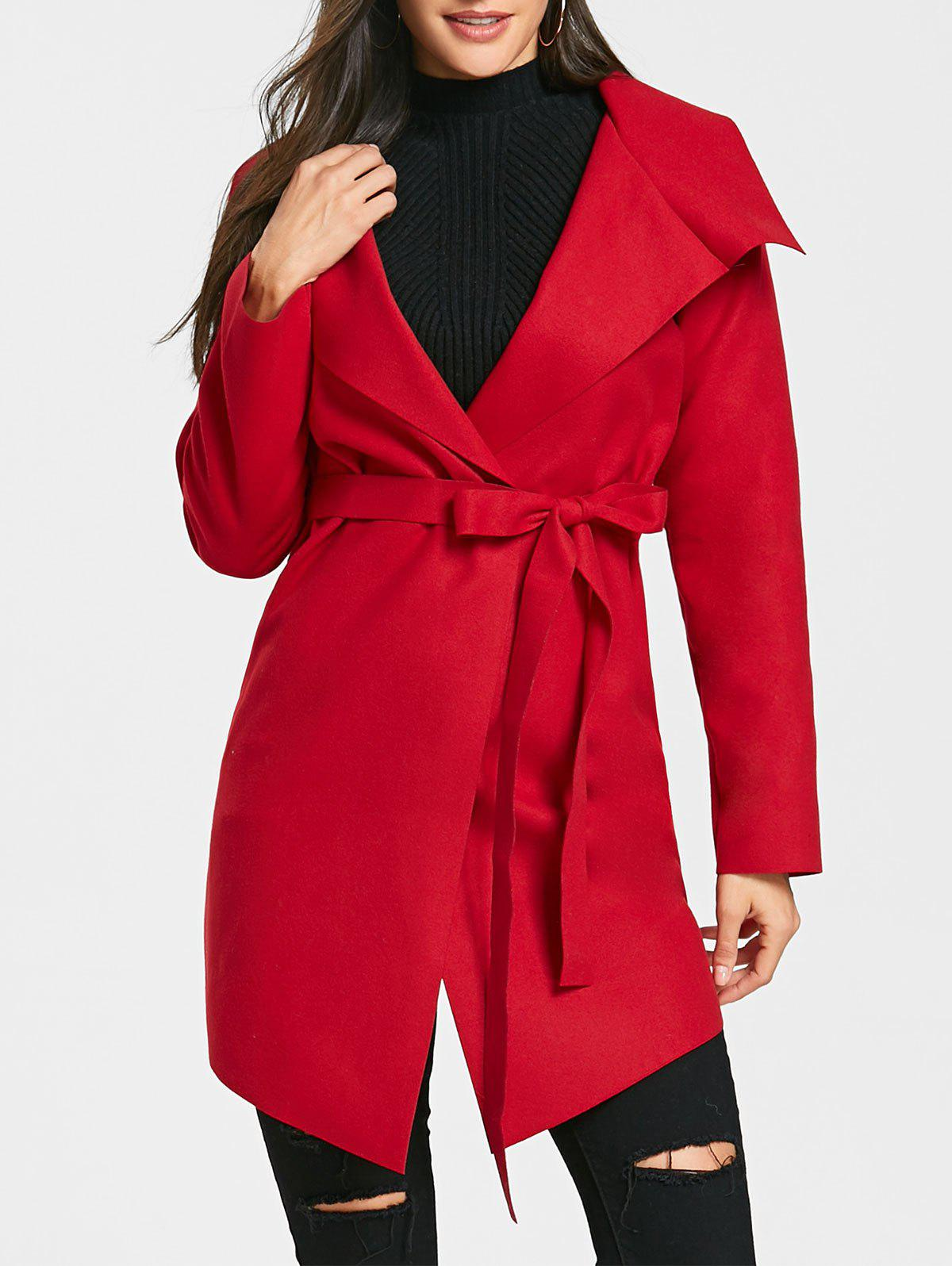 Belted Asymmetrical Wrap Coat аксессуар panasonic сетка для бритв wes9089y1361