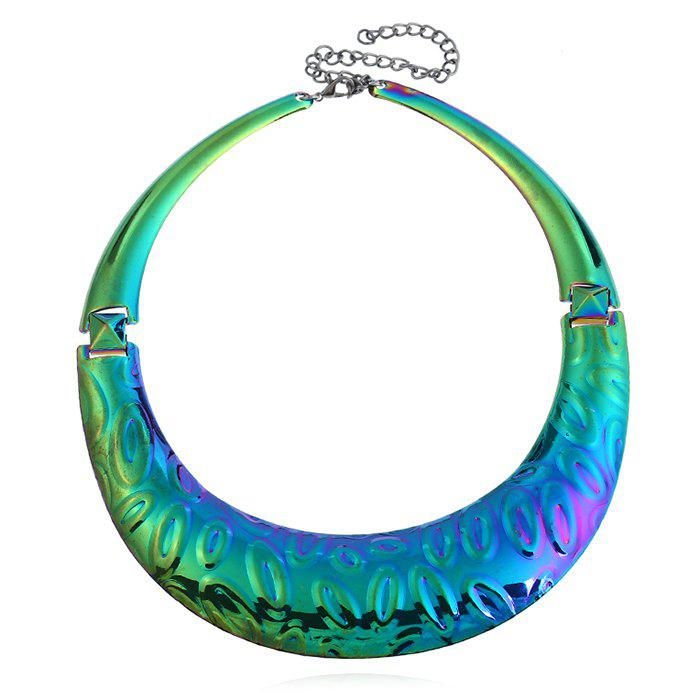 Statement Chunky Alloy Necklace alloy fringe statement necklace