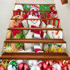 Three Snowmen are Smiling Baubles Pattern Stair Stickers - COLORFUL 100*18CM*6PCS