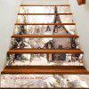 Christmas Snow View Pattern Decorative Stair Stickers - GRAY 100*18CM*6PCS