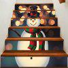 Spot Light Background Snowman Printed Removable Stair Stickers - COLORFUL 100*18CM*6PCS