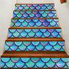 Artistic Fish Scale Pattern DIY Decorative Stair Stickers - COLORFUL 100*18CM*6PCS