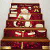 Christmas Santa Claus with Gifts Pattern DIY Decorative Stair Stickers - COLORFUL 100*18CM*6PCS