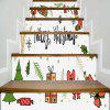 Christmas Elements Print Decorative Stair Stickers - COLORMIX 100*18CM*6PCS