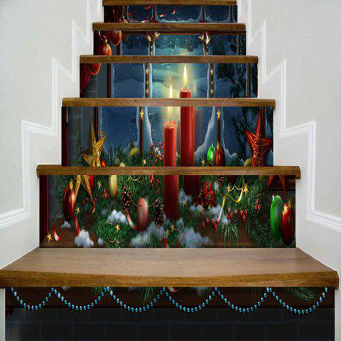 Christmas Decoration Pattern Stair Stickers - COLORMIX 100*18CM*6PCS