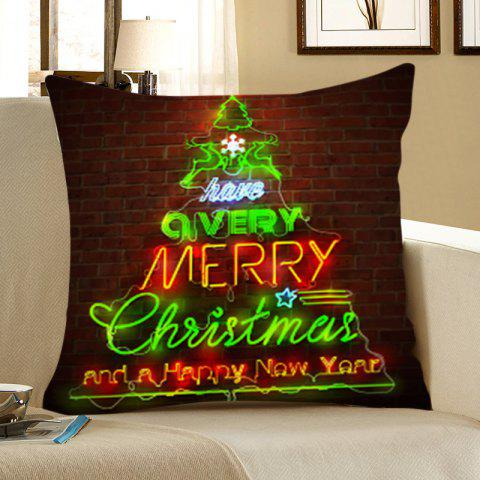 Christmas Tree Bricks Wall Pattern Throw Pillow Case - COLORFUL W12 INCH * L20 INCH