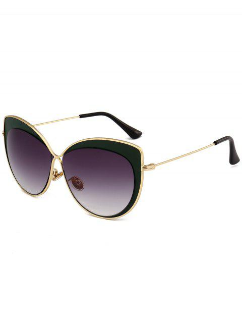Anti-fatigue Cat Eye Full Frame Sunglasses - DARK GREEN