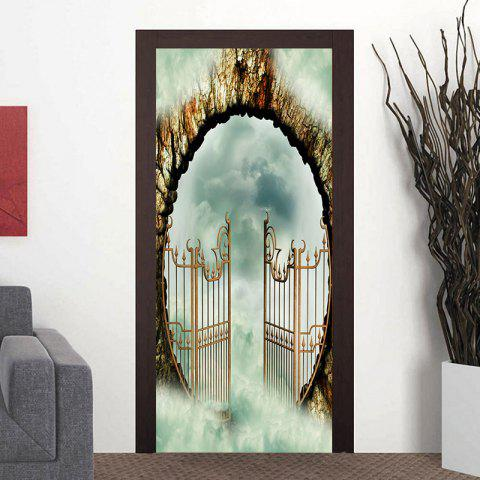 Gateway to the Heaven Pattern Door Art Stickers - COLORMIX 38.5*200CM*2PCS