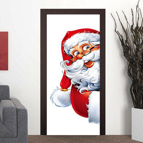 Fat Santa Claus Pattern Door Cover Stickers - WHITE 38.5*200CM*2PCS