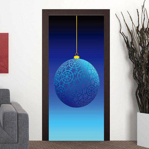 Geometric Ball Party Door Art Stickers - BLUE 38.5*200CM*2PCS