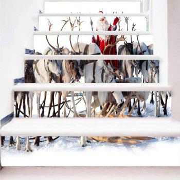 Animal and Santa Claus Pattern Christmas Stair Stickers - COLORMIX COLORMIX