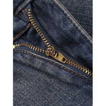 Vintage Zipper Fly Harem Jeans - DEEP GRAY 5XL