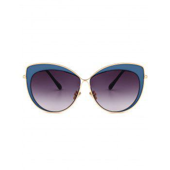 Anti-fatigue Cat Eye Full Frame Sunglasses -  DEEP BLUE