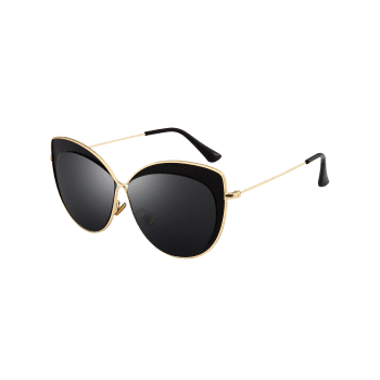 Lunettes de soleil anti-fatigue Cat Eye Full Frame - Double Noir