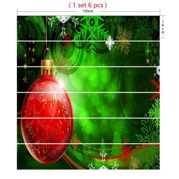 Christmas Ball and Snowflake Pattern Decorative Stair Stickers - RED/GREEN RED/GREEN