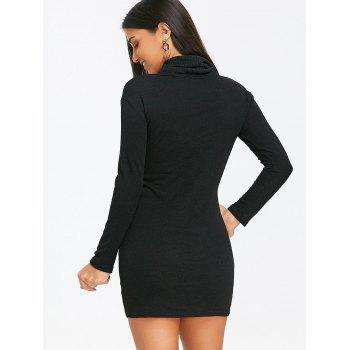 Choker Bodycon Knitted Dress - BLACK L