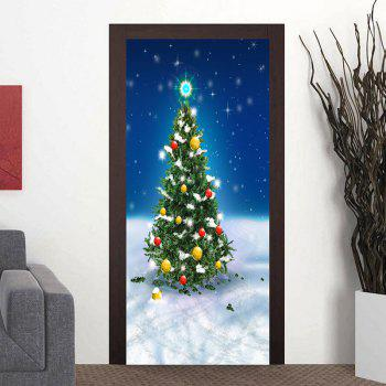 Snowfield Christmas Tree Pattern Door Cover Stickers - COLORMIX COLORMIX