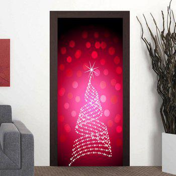 Dot Star Decoration Door Cover Stickers - PINK PINK