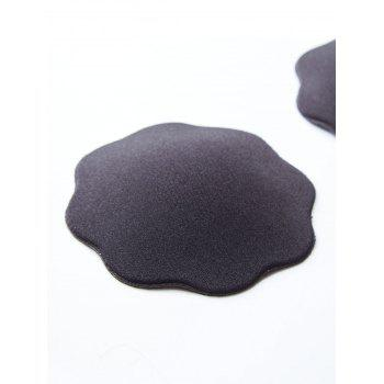 Floral Shaped Adhesive Nipple Covers - BLACK ONE SIZE