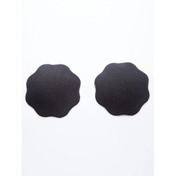 Floral Shaped Adhesive Nipple Covers - BLACK BLACK