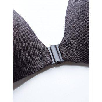 Hook Adhesive Stick on Push Up Bra - BLACK CUP A