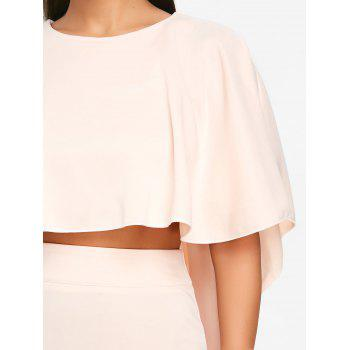 Bodycon Skirt and High Low Cape - PINKBEIGE PINKBEIGE