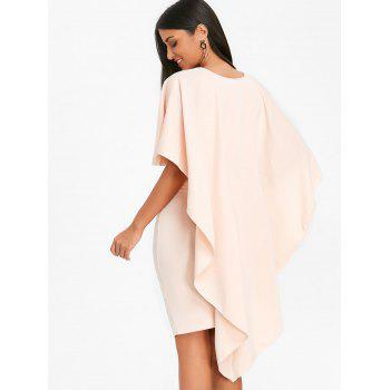 Bodycon Skirt and High Low Cape - PINKBEIGE M
