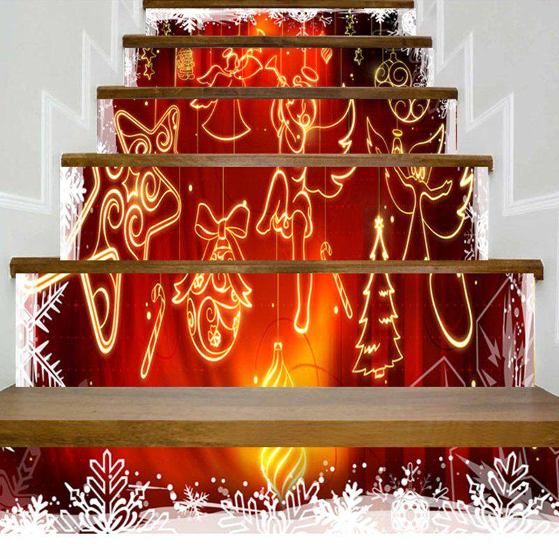 Stickers d'escalier d'ange de Noël ornements - Rouge 100*18CM*6PCS