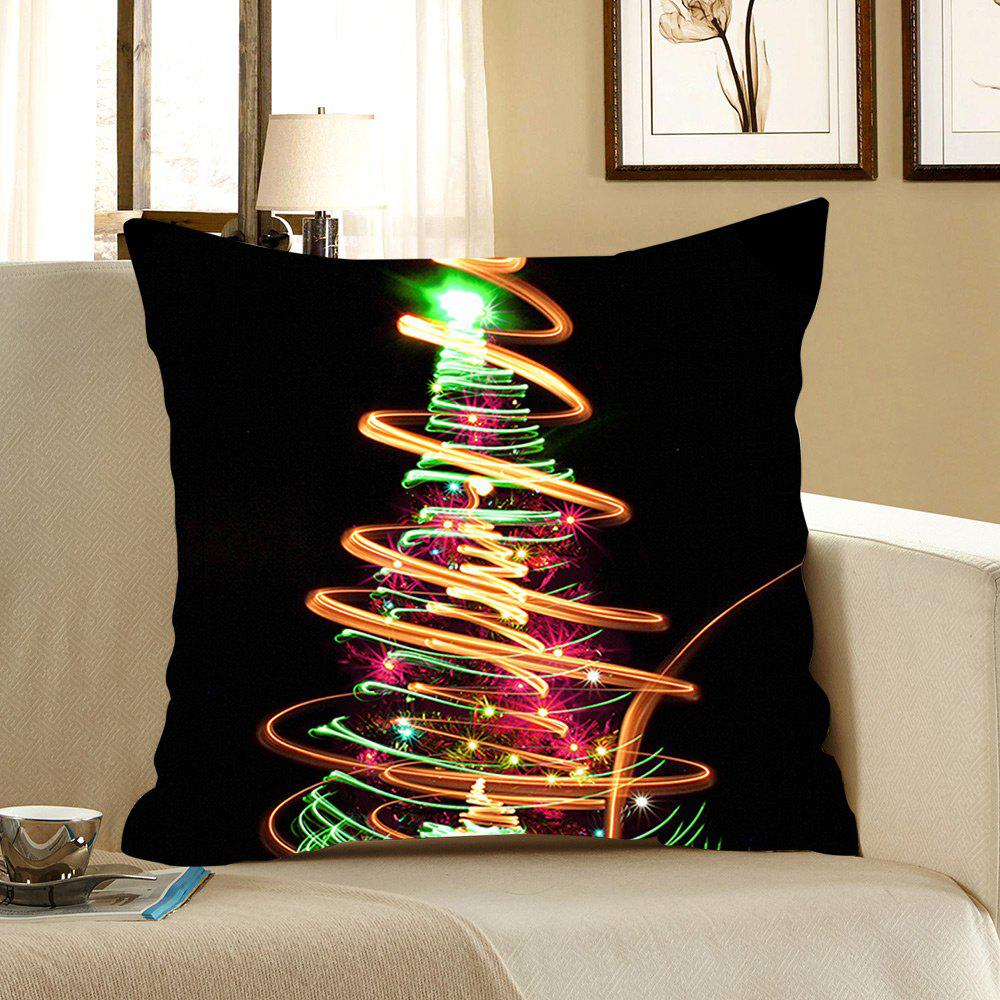 Colorful Lighting Christmas Tree Pattern Pillow Case - COLORFUL W18 INCH * L18 INCH