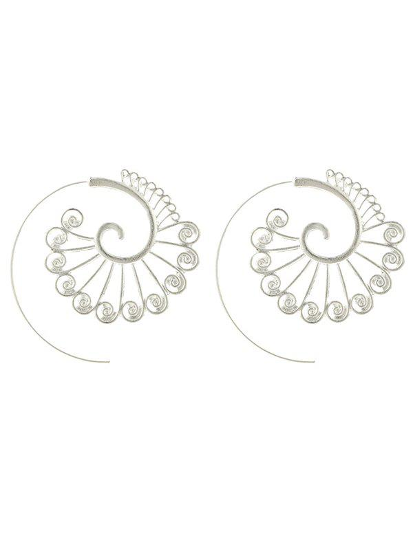 Statement Alloy Peacock Hoop Earrings