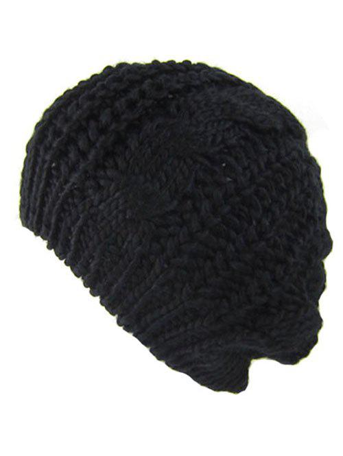 Outdoor Crochet Knitted Baggy Beanie Hat winter women beanies pompons hats warm baggy casual crochet cap knitted hat with patch wool hat capcasquette gorros de lana