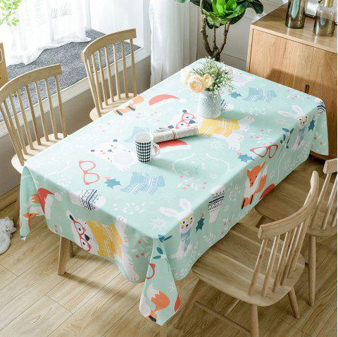 Christmas Animals Print Waterproof Tablecloth - COLORMIX W54 INCH * L72 INCH