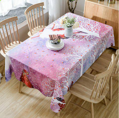 Christmas Trees Santa Print Waterproof Tablecloth - COLORMIX W54 INCH * L54 INCH