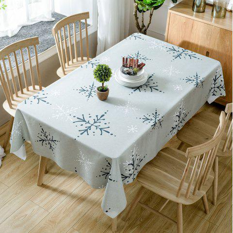Christmas Snowflakes Print Waterproof Tablecloth - COLORMIX W54 INCH * L72 INCH