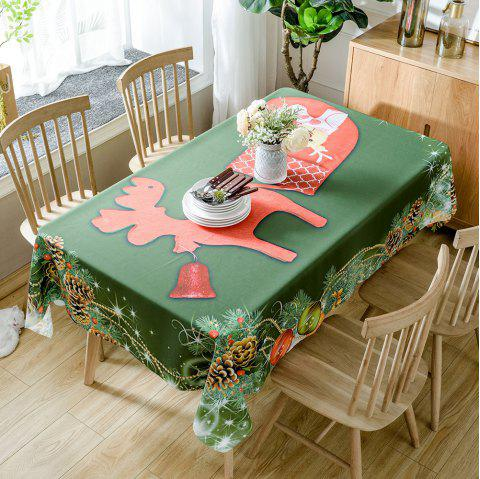 Christmas Pine Ornaments Print Waterproof Tablecloth - COLORMIX W54 INCH * L54 INCH