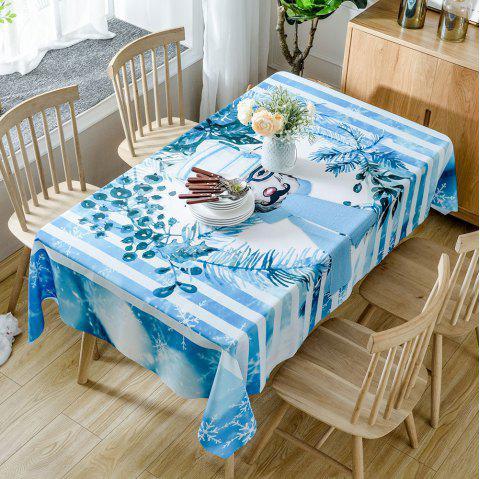 Christmas Mr Deer Print Waterproof Tablecloth - COLORMIX W54 INCH * L54 INCH