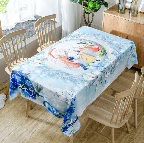 Christmas Baubles Family Print Waterproof Tablecloth - COLORMIX W54 INCH * L54 INCH